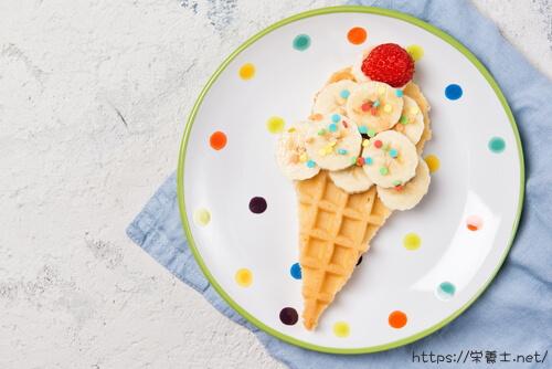 バナナで作ったアイスクリーム