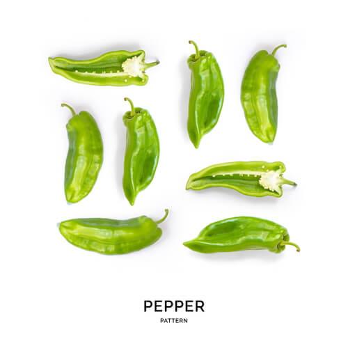 ピーマン、緑の野菜